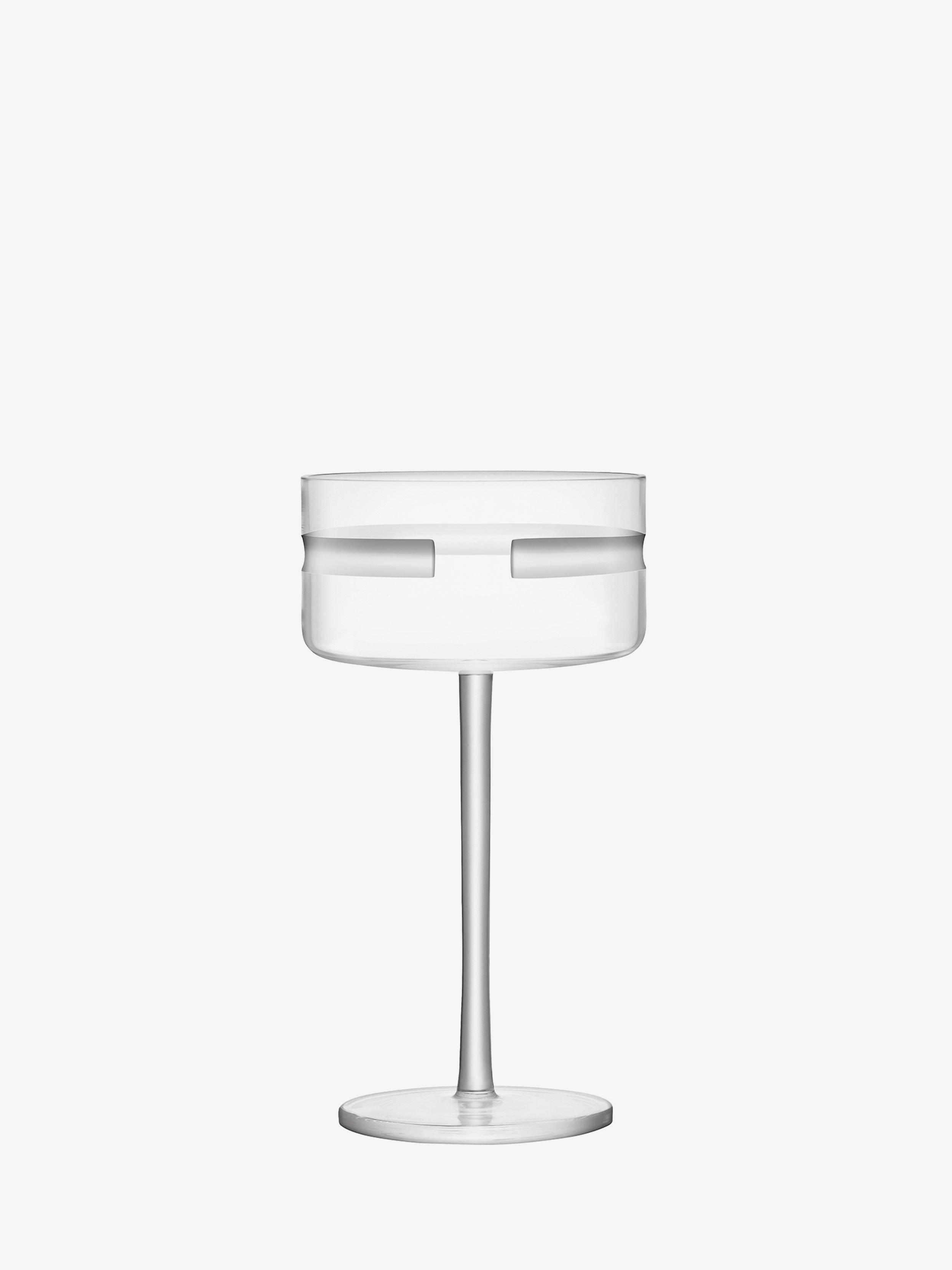 Champagne Cocktail Saucer X 2 290ml Clear Cut Horizon Lsa Drinkware
